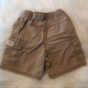 1989 Place Bottoms - Boy Khaki Cargo Shorts | 18 - 24 Months